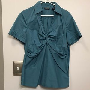 NY & Company Sz 14 fitted, collared dress shirt